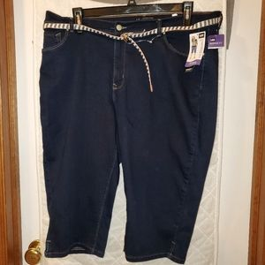 Lee Modern Rise Skimmer capris jeans size 20 NWT